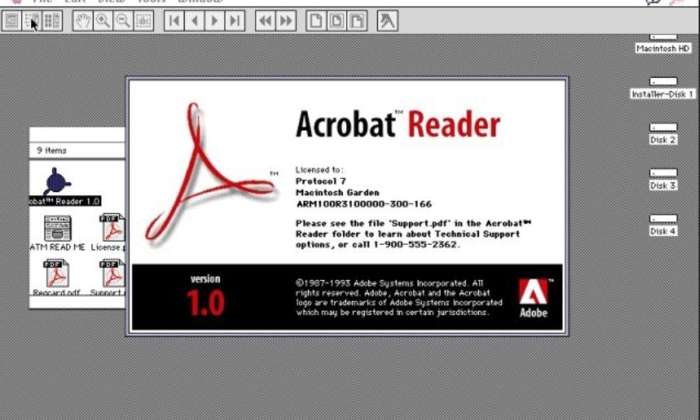 Adobe bloquea a un usuario por compartir un Acrobat Reader 1.0 de 1994 31