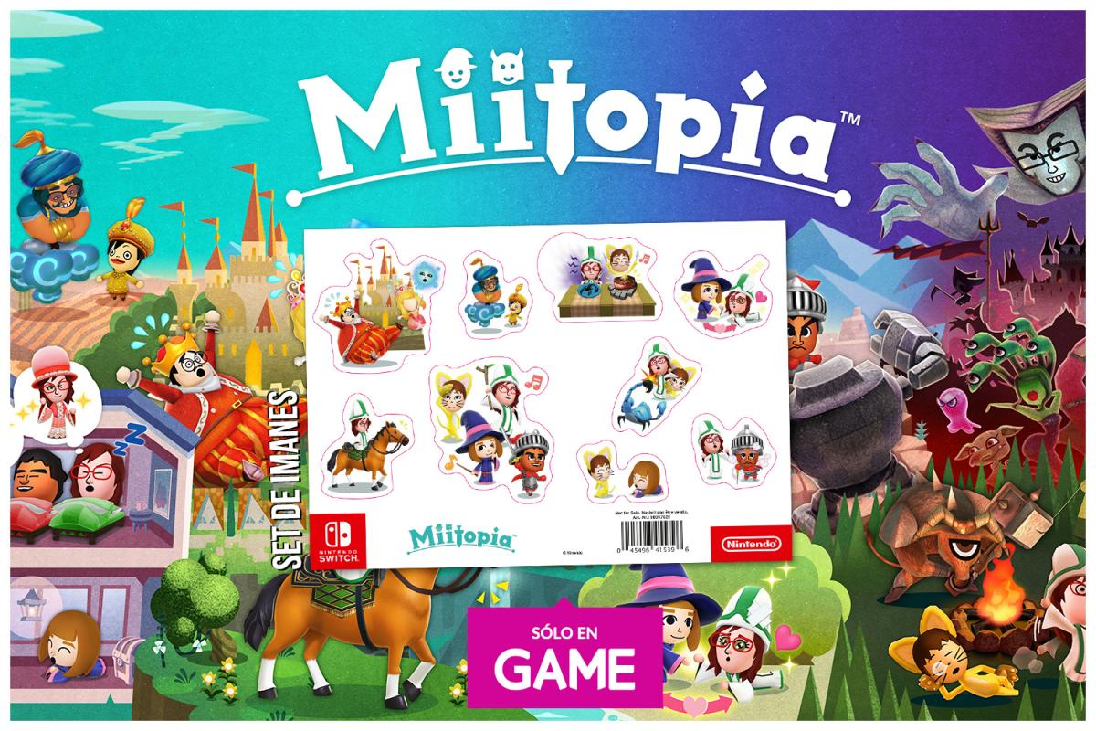By reserving Miitopia for Nintendo Switch in GAME stores, you get an exclusive set of magnets as a gift