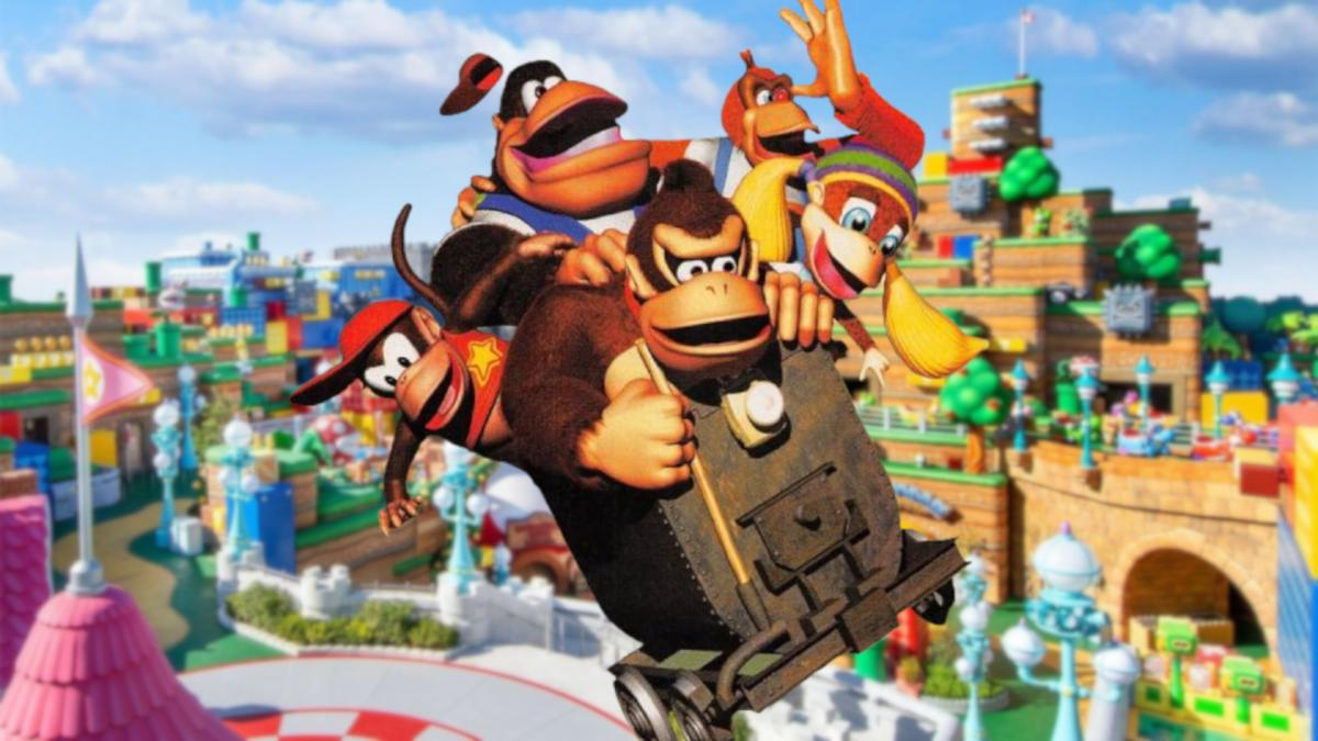 Construction begins on the Donkey Kong area in Super Nintendo World, and it is as big as Mario's