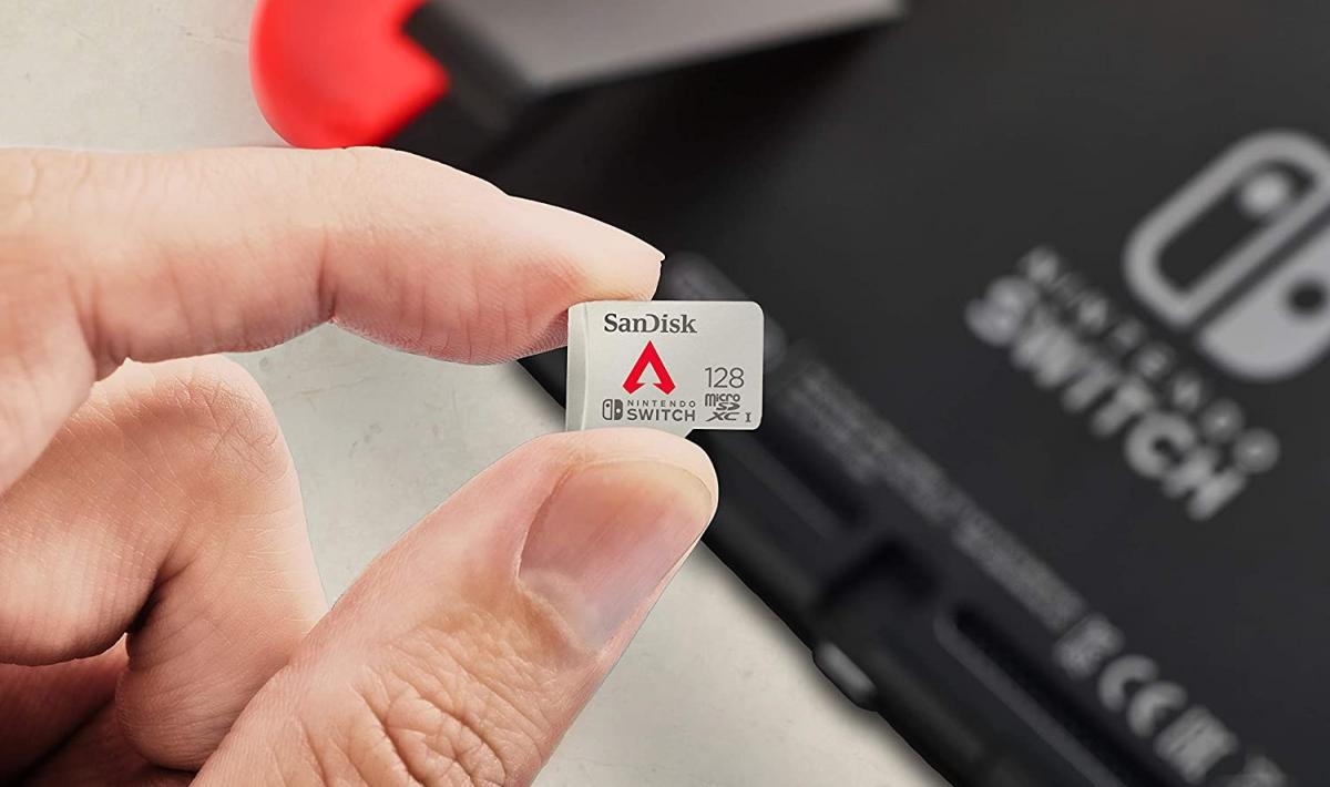 Dress up your Nintendo Switch storage with Apex Legends with the official 128GB microSDXC card