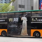 Lady Dimitrescu shows off on Hong Kong buses, as a promotional campaign for Resident Evil Village