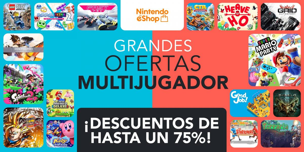 Nintendo Announces Great Multiplayer Deals on the eShop, With Over 190 Games Up to 75% Off