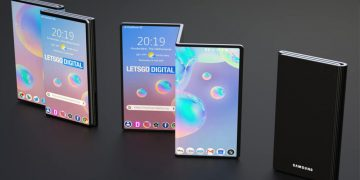 Samsung teléfono plegable triple
