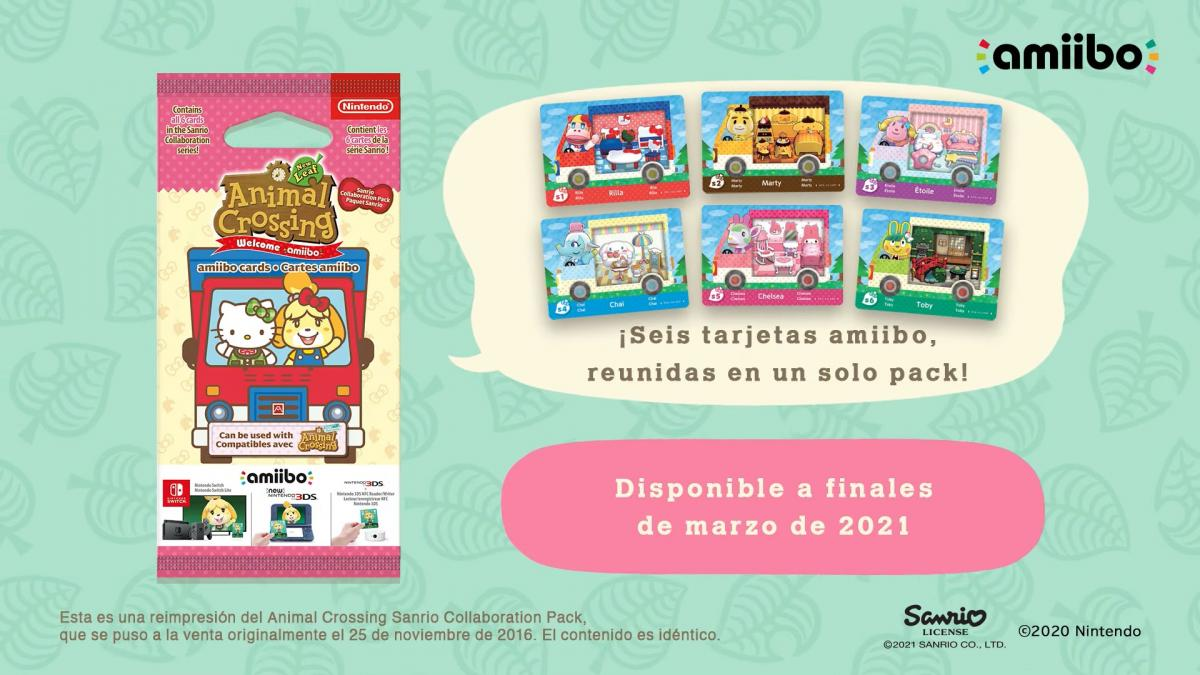Sanrio (Hello Kitty) amiibo cards in Animal Crossing New Horizons: how to get them and what they unlock