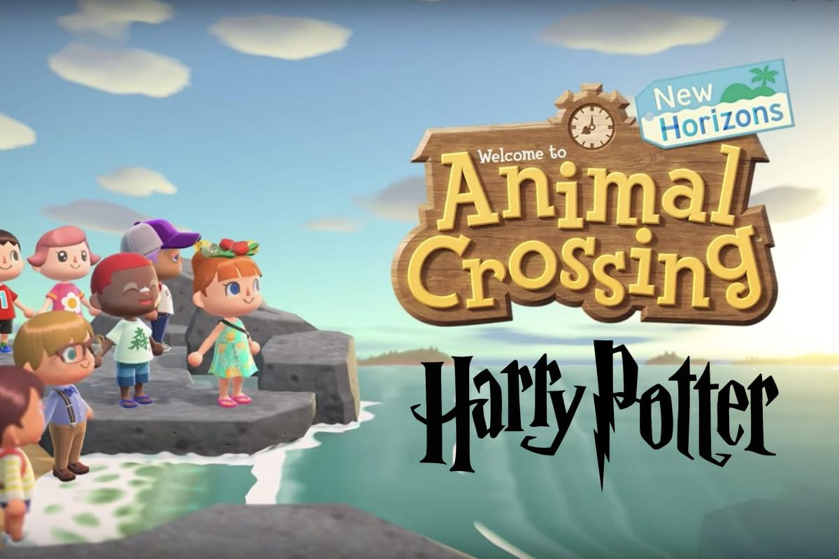 They recreate in Animal Crossing New Horizons the Hogwarts Express, on Platform 9 and ¾, from Harry Potter
