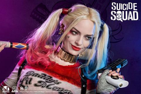 Life-size bust of Harley Quinn