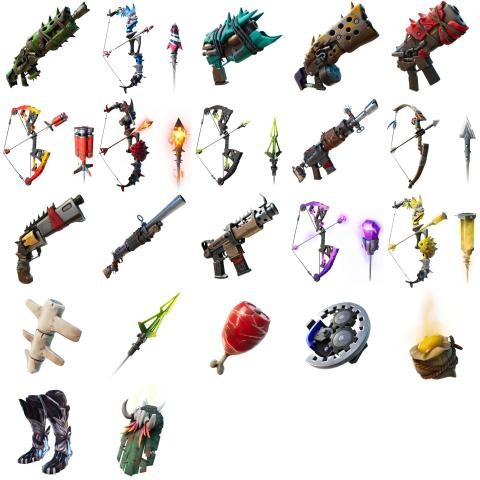 weapons fortnite season 6