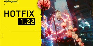 Cyberpunk 2077 is updated with hotfix 1.22, with memory management improvements when played on PS5