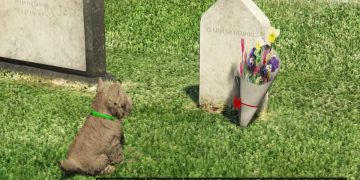 GTA V's saddest secret goes viral: a dog who visits a grave in the cemetery every day