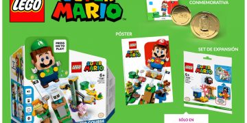 LEGO Super Mario - Luigi is now available for pre-order at GAME and comes with a commemorative coin, poster and gift expansion set