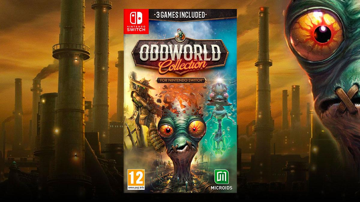 Oddworld Collection collects all three games in a single cartridge, only for Nintendo Switch
