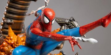 Spider-Man is the star of an explosive resin figure (almost literally)