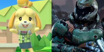 "The meme of the ""fusion"" between Canela from Animal Crossing and Doomslayer, in a brutal cosplay"