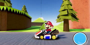 They imagine what Mario Kart would be like with the aesthetics of Paper Mario and the result is amazing