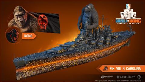 Godzilla vs Kong in World of Warships