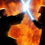 A fan imagines the combat between Anakin and Obi-Wan in Star Wars episode 3 in the style of The Clone Wars