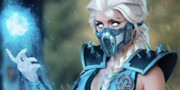 """Crossover """"on the rocks"""": This cosplayer fuses Sub-Zero and Elsa from Frozen ... And it's awesome!"""