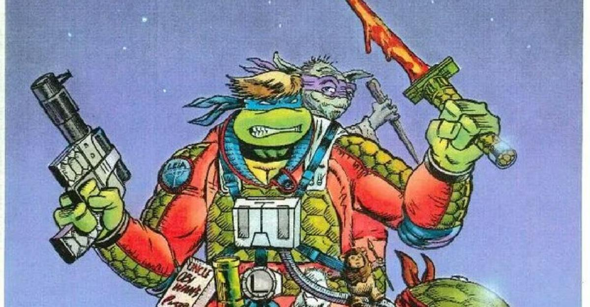 Designs of the crazy toys that wanted to mix Star Wars with Ninja Turtles ... but that were never created