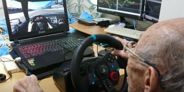 He's a 93-year-old youtuber and plays racing games better than you
