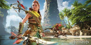 Horizon II Forbidden West gameplay running on PS5