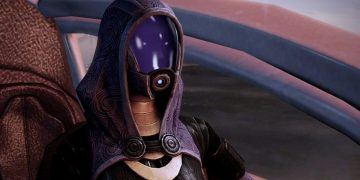 Mass Effect Legendary Edition changes the photo of Tali's face in a scene from Mass Effect 3