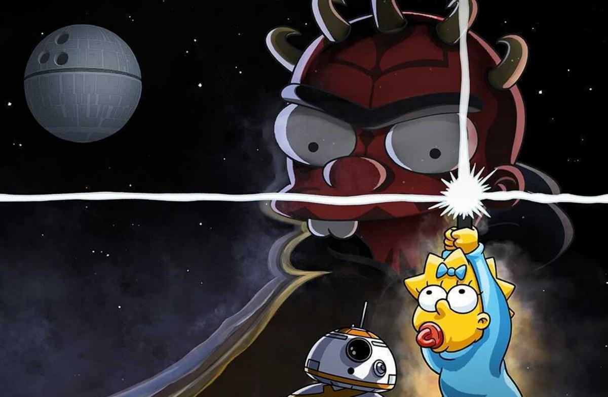 The Simpsons and Star Wars unite for the first time in Maggie's new short