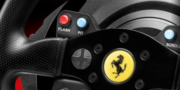 These racing game steering wheels are cheap and fast shipping on Amazon