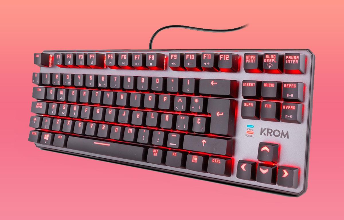 This 60% gaming keyboard with RGB lighting offers a lot, takes up little and costs even less: only 39 euros