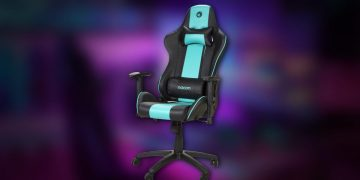 This complete Nacon gaming chair has a very original design, includes lumbar and cervical cushions, and costs 125 euros