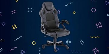 This gaming chair has a racing design, it is breathable, you can use it to play and work and it is very cheap: it costs less than 100 euros