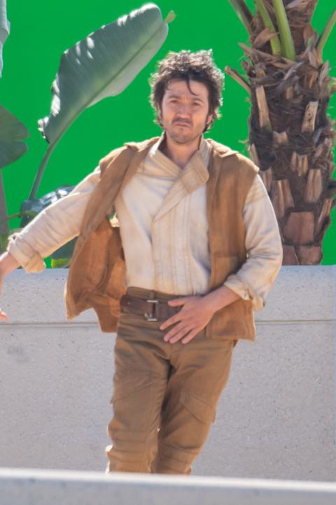 Diego Luna on the set of Andor's filming