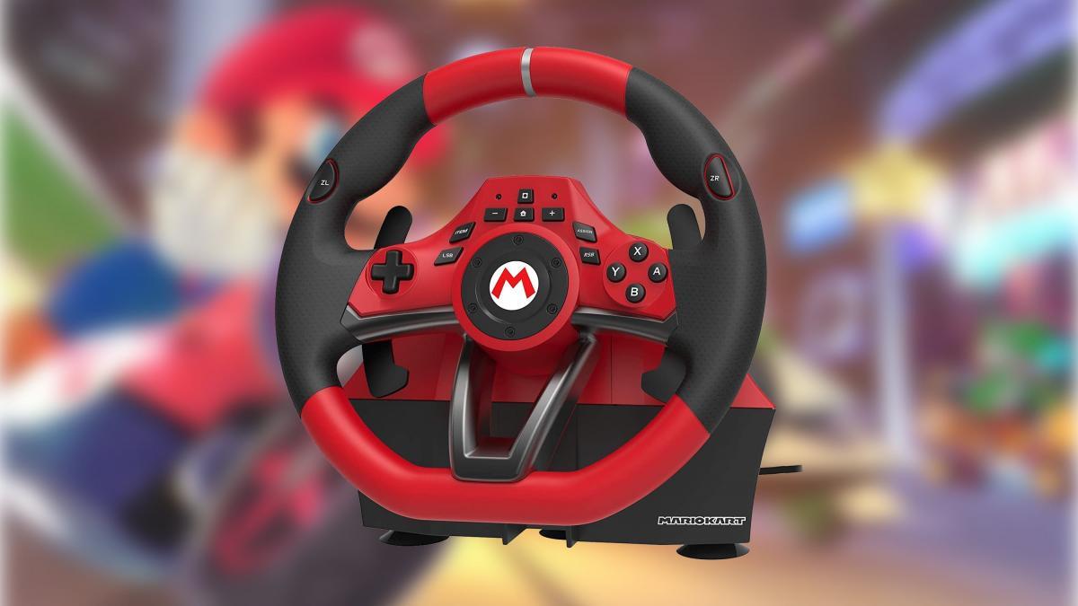 Drift like nobody else in Mario Kart with this HORI Mario Kart Pro Deluxe steering wheel for 80.99 euros