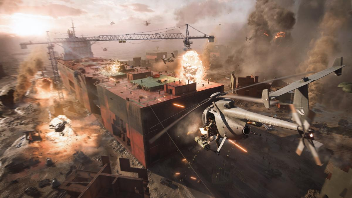 E3 2021 - Battlefield 2042 gameplay trailer at Microsoft conference