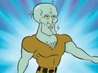 Sosenka wows us again with her mind-blowing cosplay of handsome Squidward from SpongeBob SquarePants